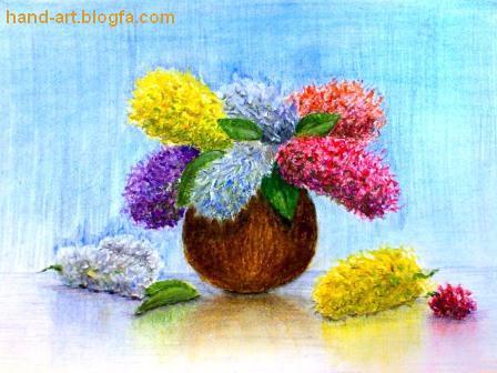 نقاشی با مدادرنگی پاستل